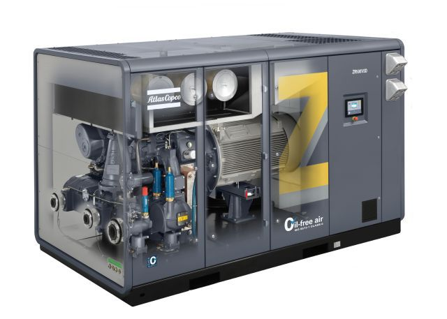 Oil-free water cooled screw compressor with Variable Speed Drive